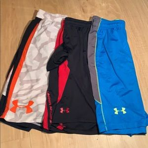 3 Under Armour shorts